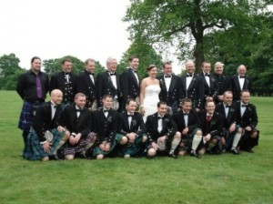 Collette with the kilted Scotsmen