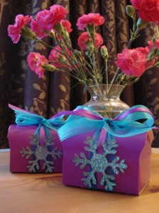Andy's Blue & Purple Christmas Favours