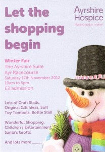 Ayrshire Hospice Winter Fair 2012 Flyer