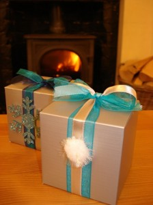 Debbie's Blue & Silver Christmas Favours