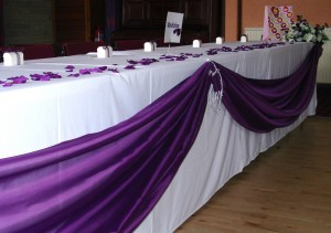 Top Table Dressed in Purple at RAFA Club