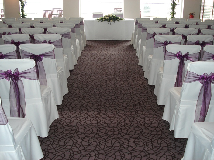 A centred view of the Turnberry Suite for Frank & Claire's Wedding