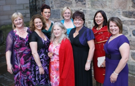 Ayrshire ladies at ASB Awards in Aberdeen