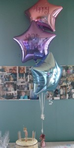 Balloon arrangement for Catriona's Mums 90th Birthday