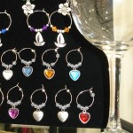 Beautiful wine glass charms
