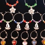 Beautiful wine glass charms for guests