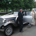 Bill & Betty took a trip in their Classic Silver Beauford Car onto the venue