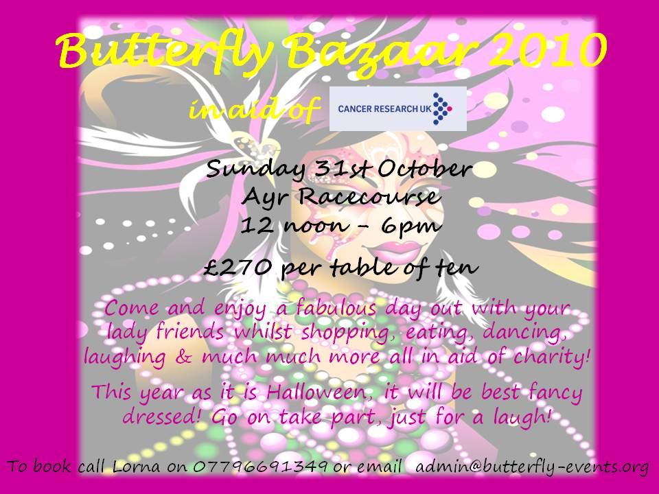 Butterfly Bazaar Flyer for 31st October 2010