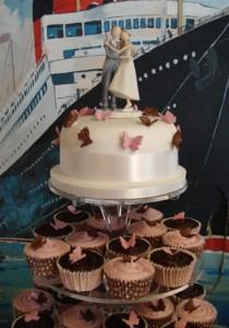 Chocolate & pink cupcakes