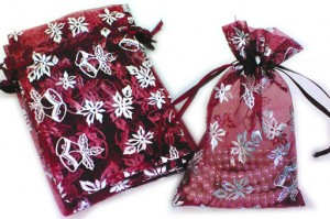 Christmas organza bags
