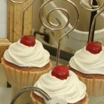 Cupcake place card & photo holders