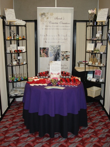 Sarah's Creative Occasions' Display at Scotland's Exclusive Wedding Event