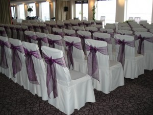 Dressed chairs in the Turnberry Suite for Frank & Claire