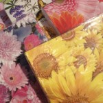 Floral paper napkins for garden parties