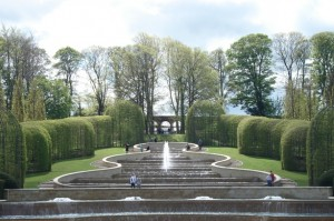 Elegant cascades of water at Alnwick Gardens