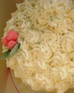 Giant vanilla sponge cupcake