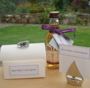 Gillian's Trio of Wedding Favours in Palma Violet Colouring