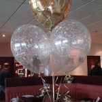 Golden Wedding Anniversary Balloon Arrangement