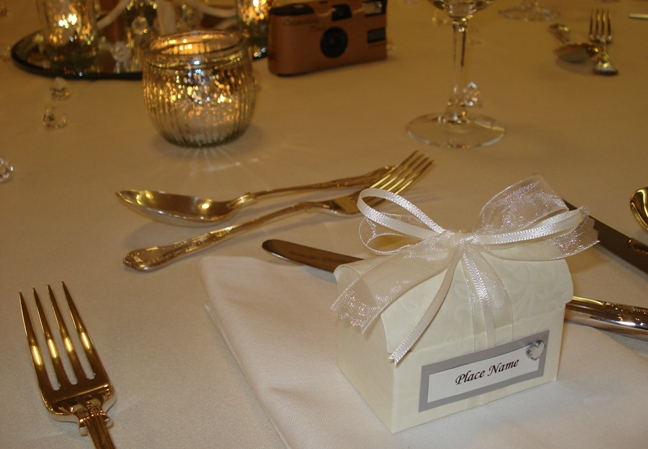 Hand crafted wedding favours filled with tablet & trivia just   ' £2.40