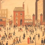 Industrial scene by L. S. Lowry