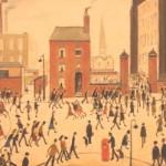 Industrial scene by L. S. Lowry