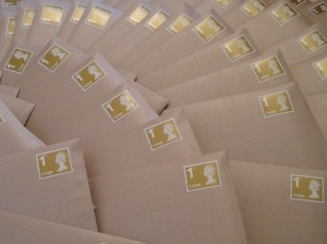 Invitations ready to be mailed