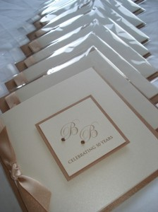 Invitations ready to be packaged
