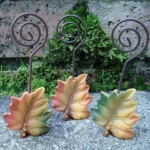 Leaf Placecard Holders at   ' £2.55 Each