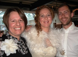 Me with the beautiful bride and groom