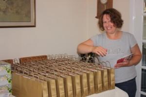 Preparing 150 gift bags