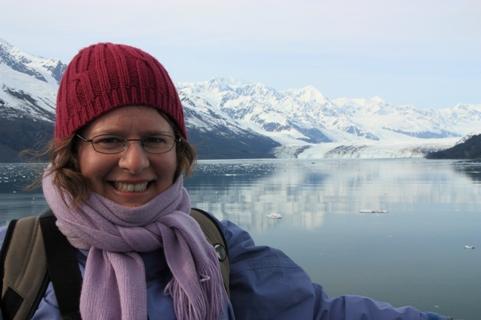 Sarah cruising up College Fjord in Alaska