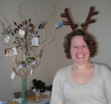 Sarah in her festive antlers