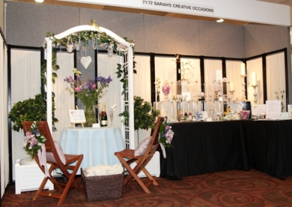 Sarah's Creative Occasions display at The Ayrshire Wedding Show 2010