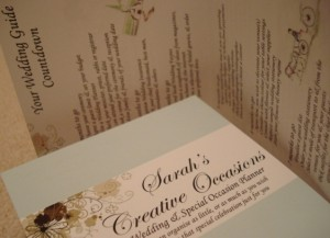Sarah's Creative Occasions Wedding Guide Countdown
