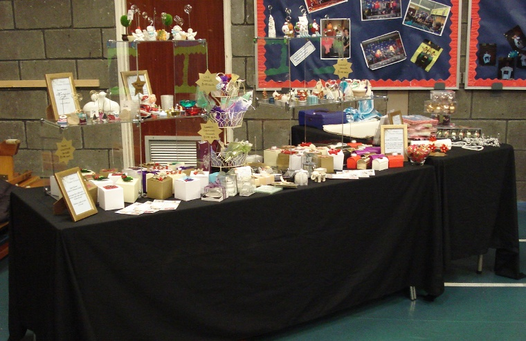 SCO Stall at Struthers Primary School Christmas Fayre Dec 2011