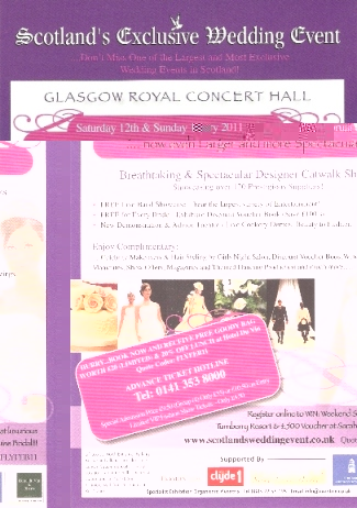Scotland's Exclusive Wedding Event Flyer