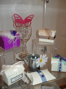 Selection of wedding favours and place cards 02