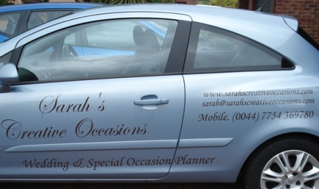 Vauxhall Corsa with Business Graphics