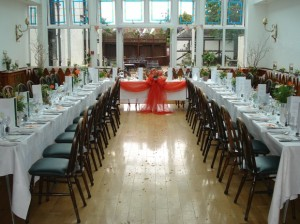 Sophia & Geordie's wedding breakfast layout