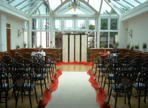 Sophia & Geordie's wedding ceremony layout