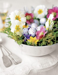 Spring Flowers & Eggs for Easter