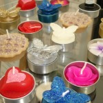 Stock of fancy tealight candles