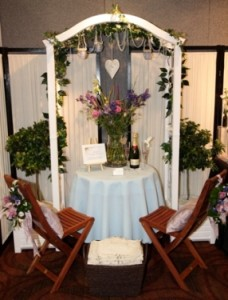 Summer garden wedding display for the Show