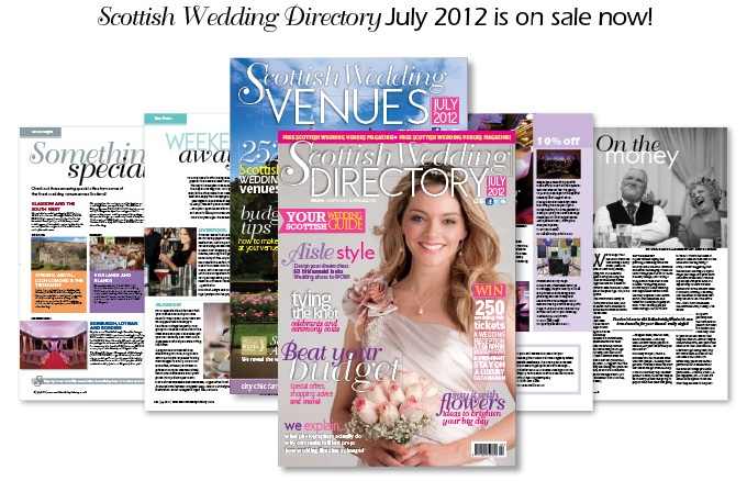 July 2012 Edition of the Scottish Wedding Directory is on sale