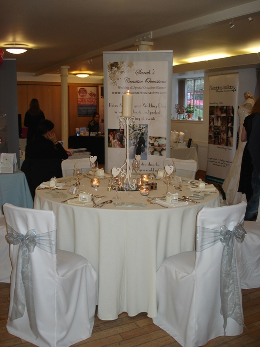 Table Setting at the Glasgow Girls Wedding Fayre 22 January 2012