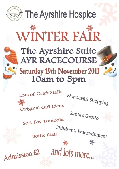 The Ayrshire Hospice Winter Fair Flyer for 19 Nov 2011