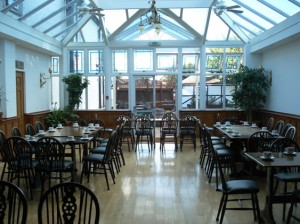 The blank canvas in the conservatory at the Abbotsford Hotel