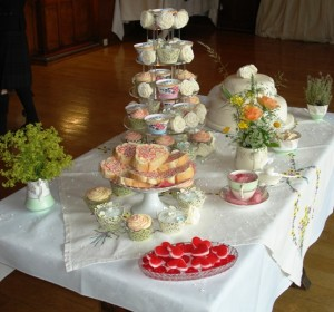 Their cake table including fairy bread