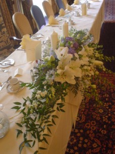 Top table at a wedding reception