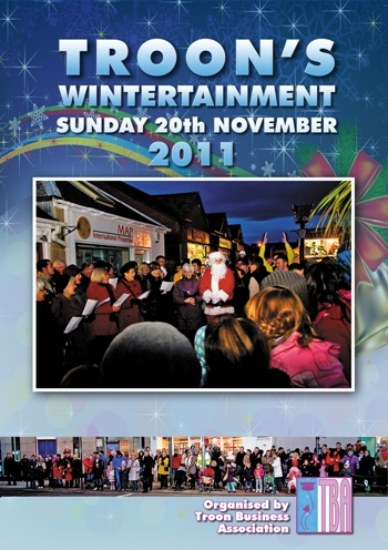 Troon's Wintertainment Flyer for Sunday 20th November 2011